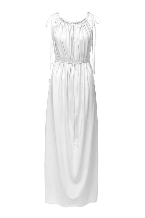 Dlouhé šaty- bílé