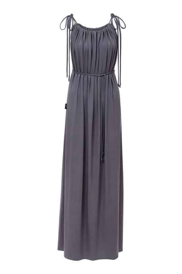 Dlouhé šaty- šedé