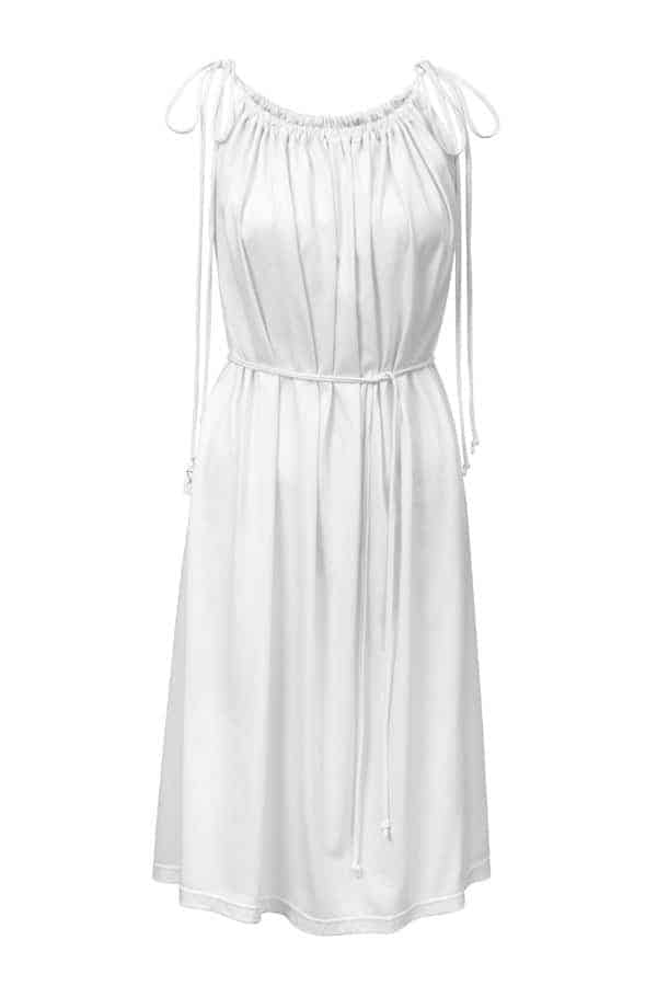 Šaty řasené- bílé