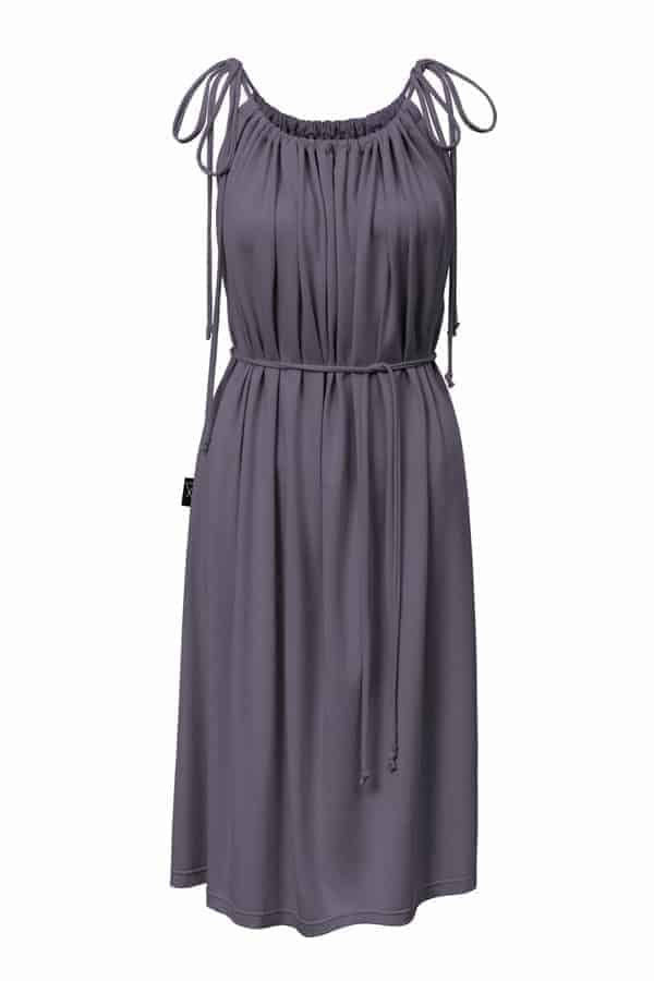 šaty řasené - šedé
