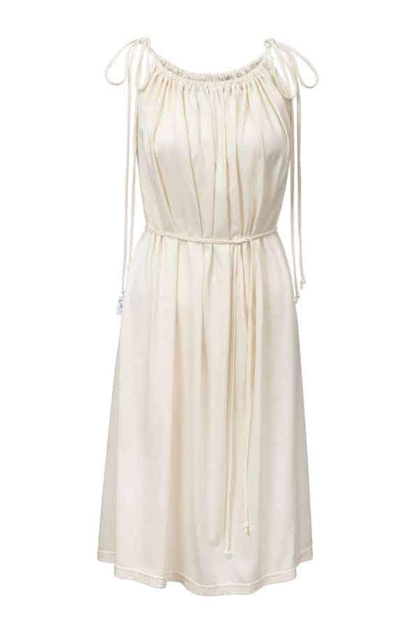 šaty řasené - sv. béžové