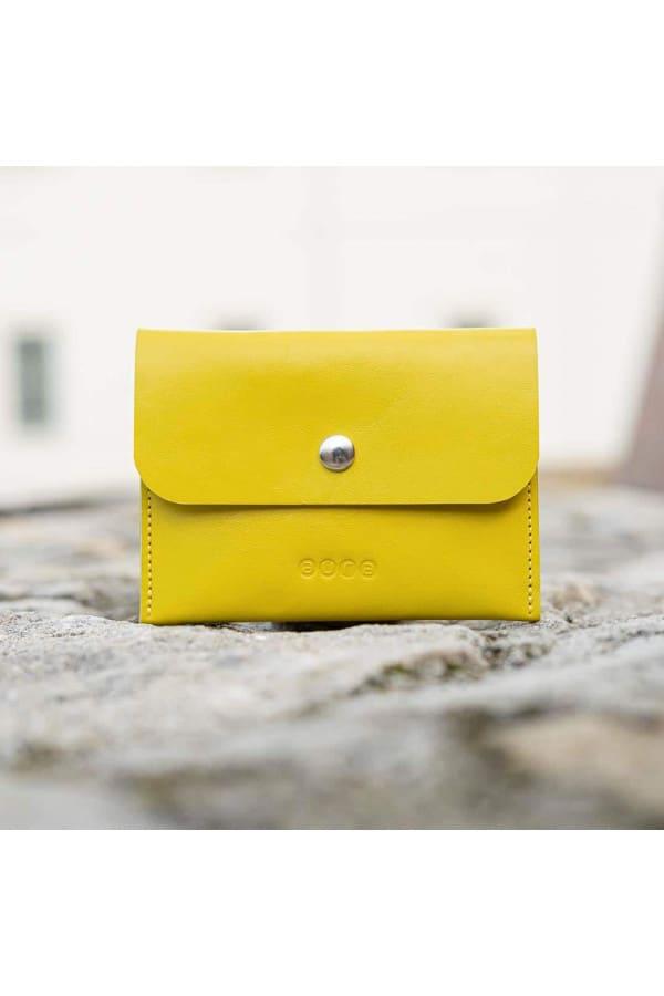 Kožená peněženka PETIT - žluto modrá