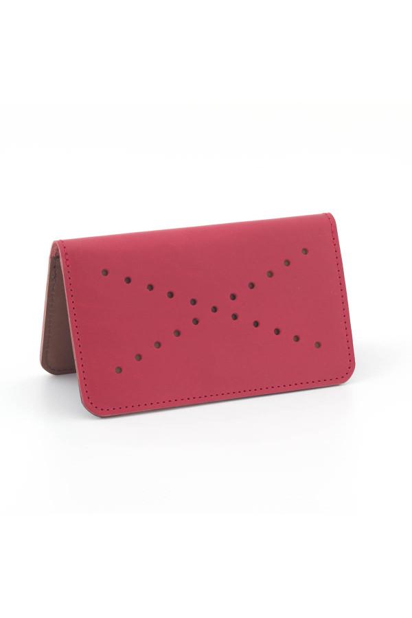 Kožená peněženka VIVID - červeno zlatá