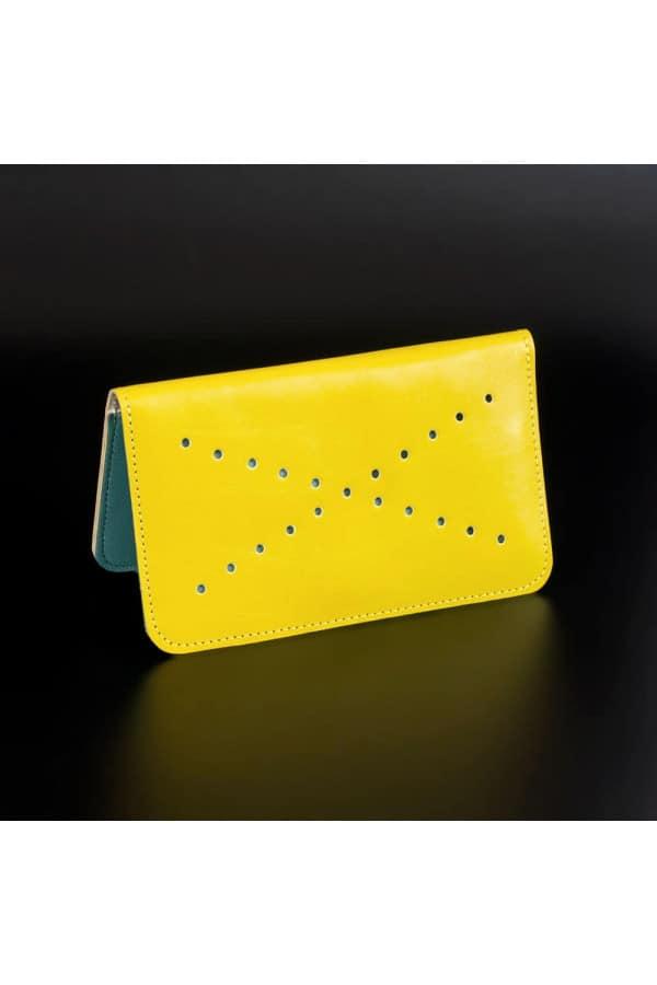 Kožená peněženka VIVID - žluto modrá