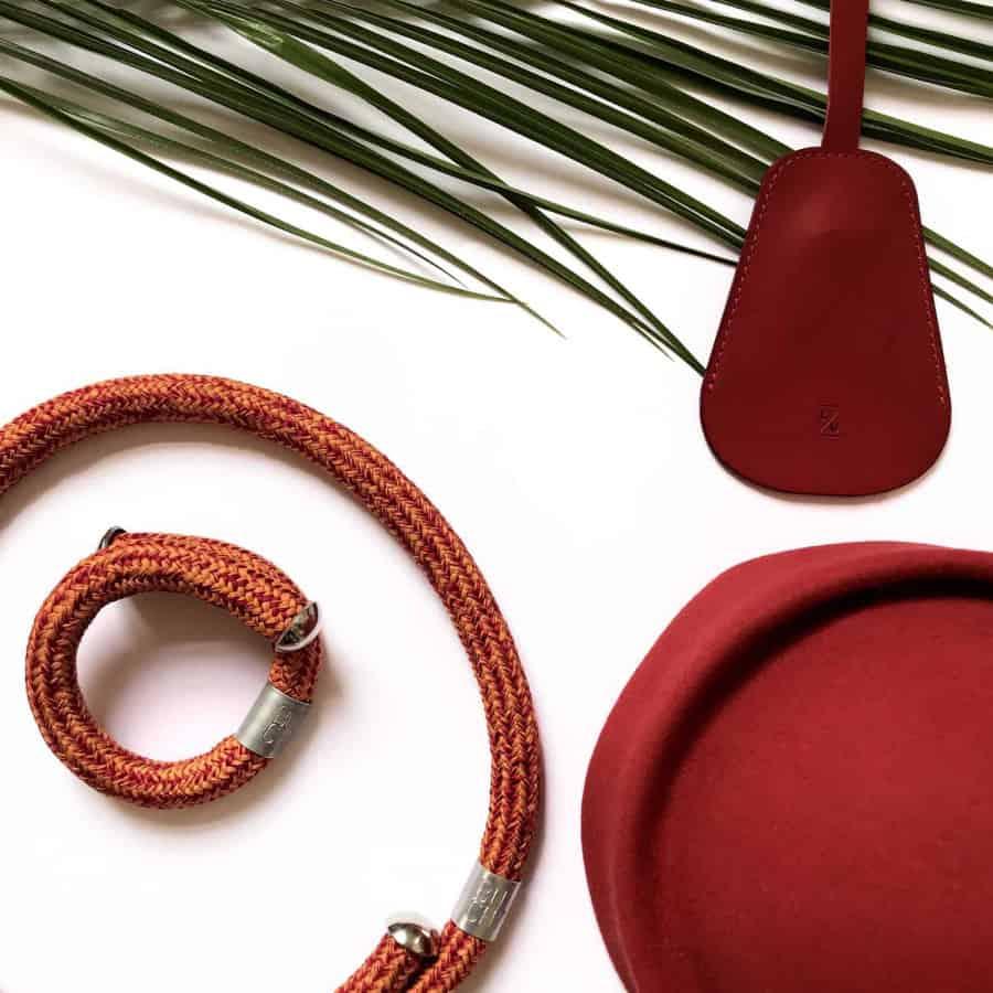 SALE! jednoduchý červenooranžový náramek buchy