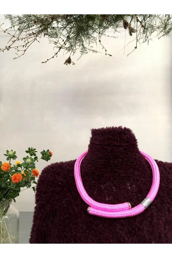 SALE! růžový jednoduchý náhrdelník buchy