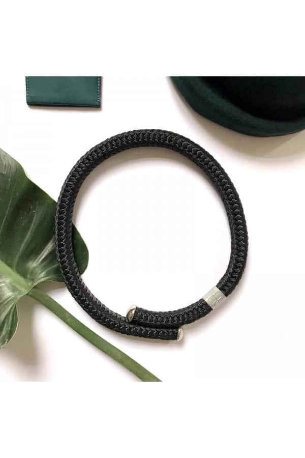 černý silný nárhrdelník BUCHY