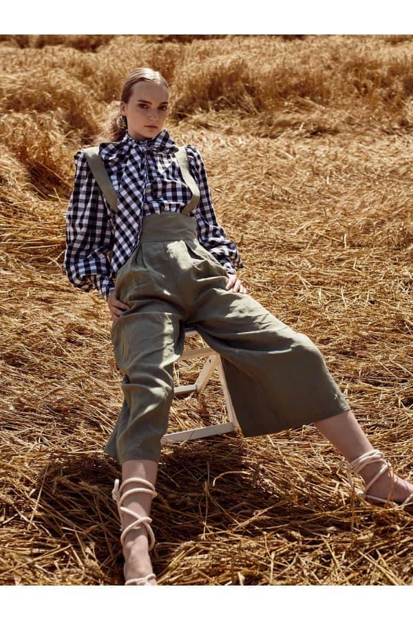 Lněné kalhoty Alicia