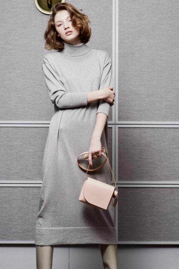 Roll-Neck Maxi dress