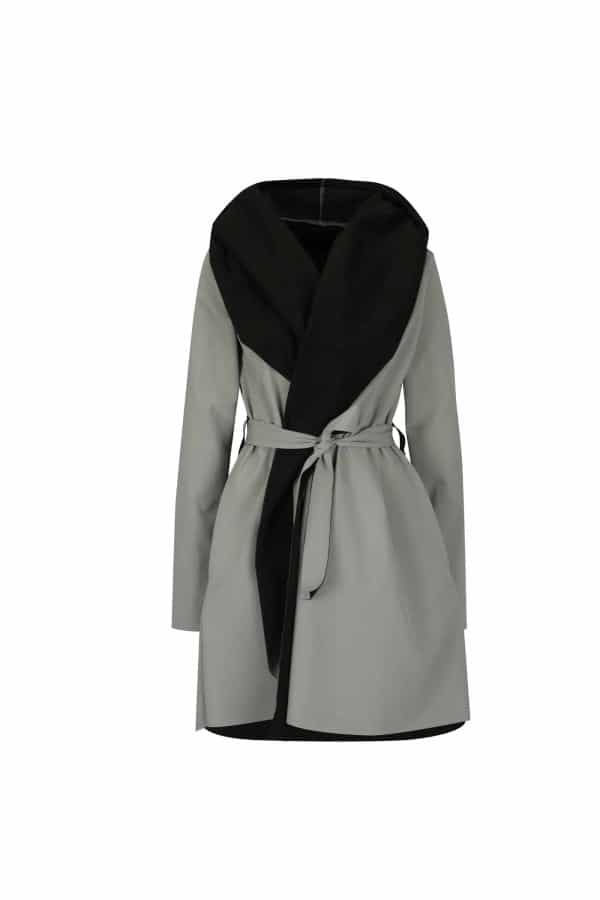 Černo-šedý voděodolný kabát  Jack Grey