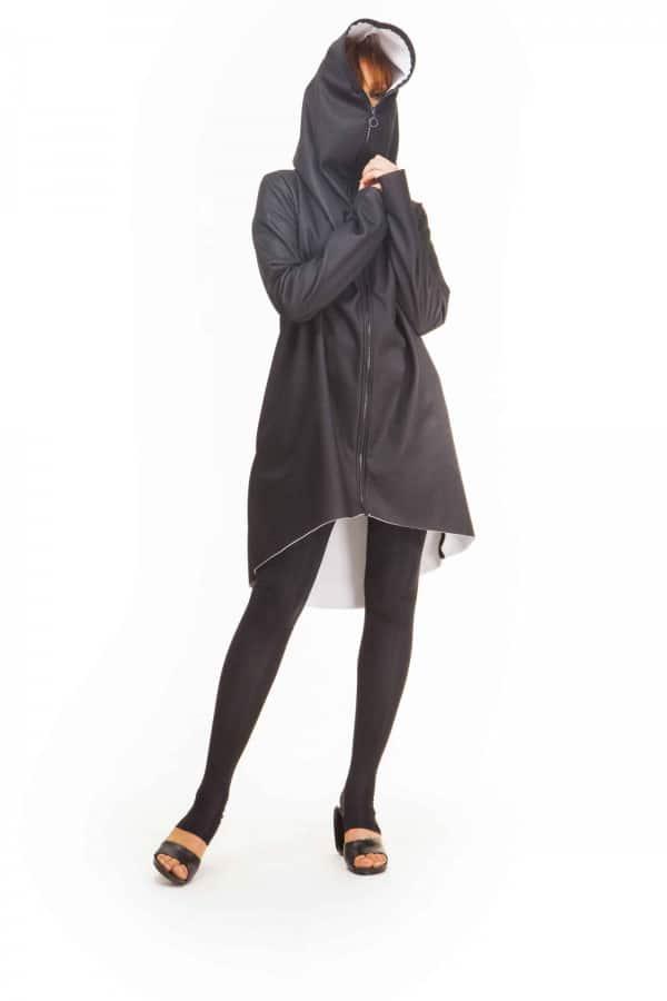 Černobílý kabát Open Space