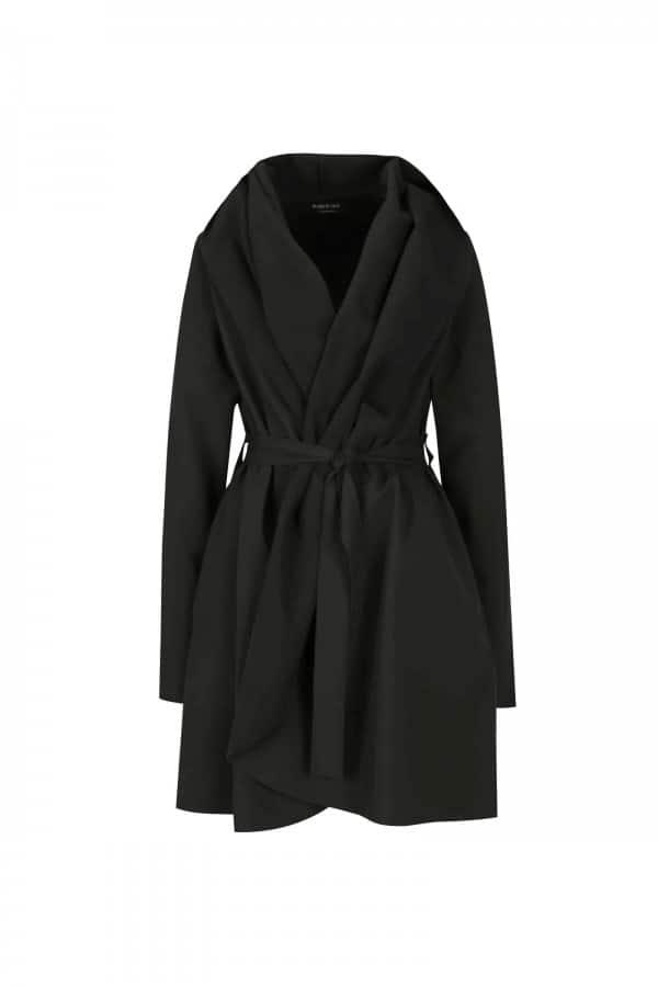 Černý voděodolný kabát Jack