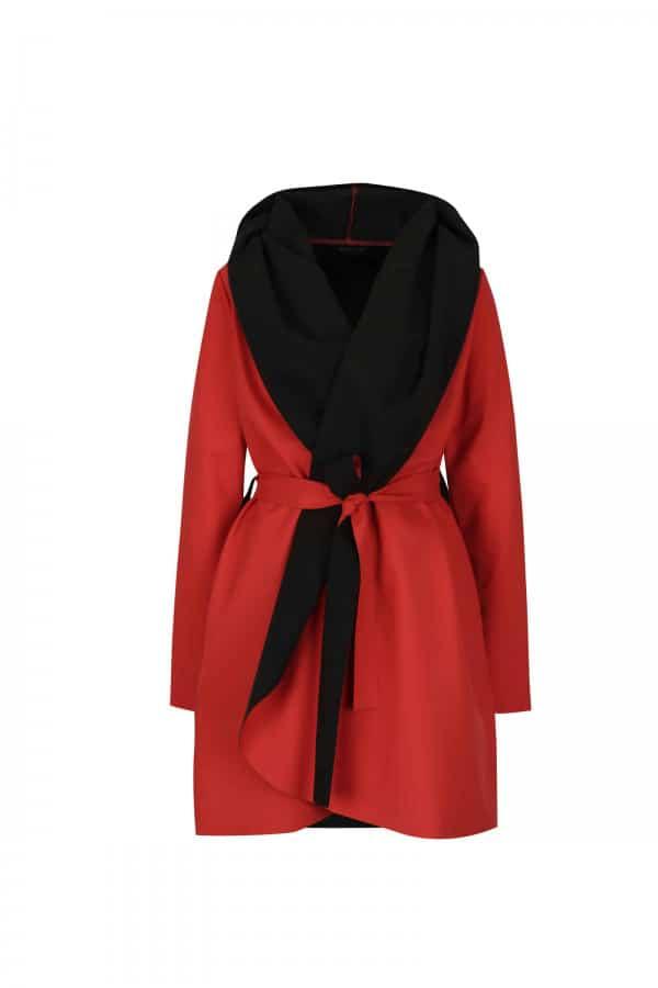 Červeno-červený voděodolný kabát Jack