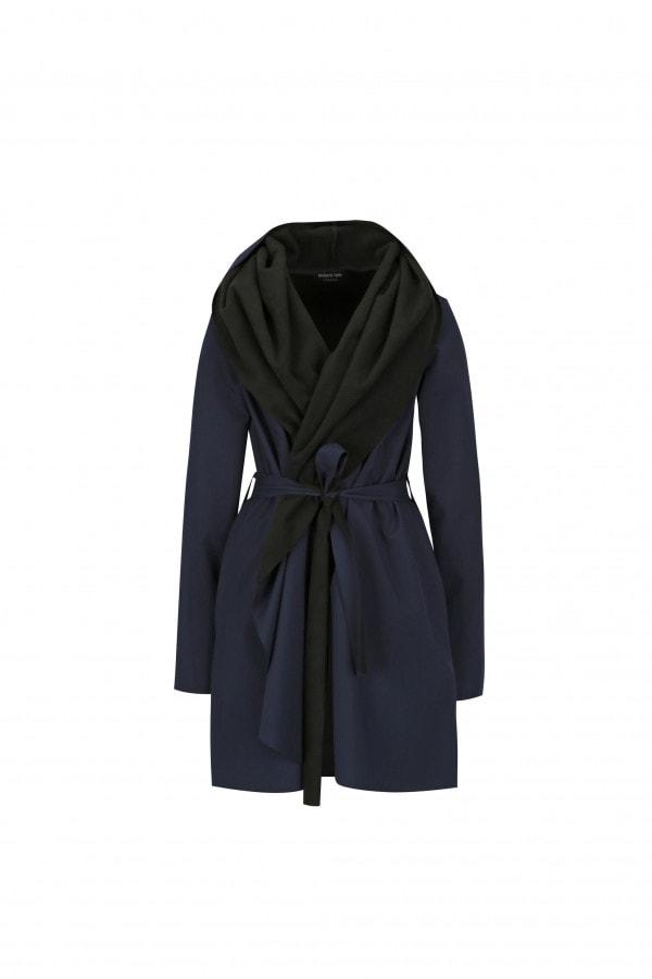 Modro-černý voděodolný kabát Jack Dark Blue
