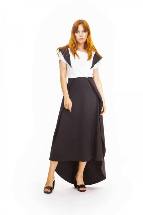 Večerní softshellová business sukně