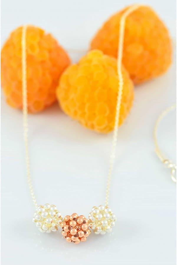 Náhrdelník Rose Gold Mix Berries Minimal small