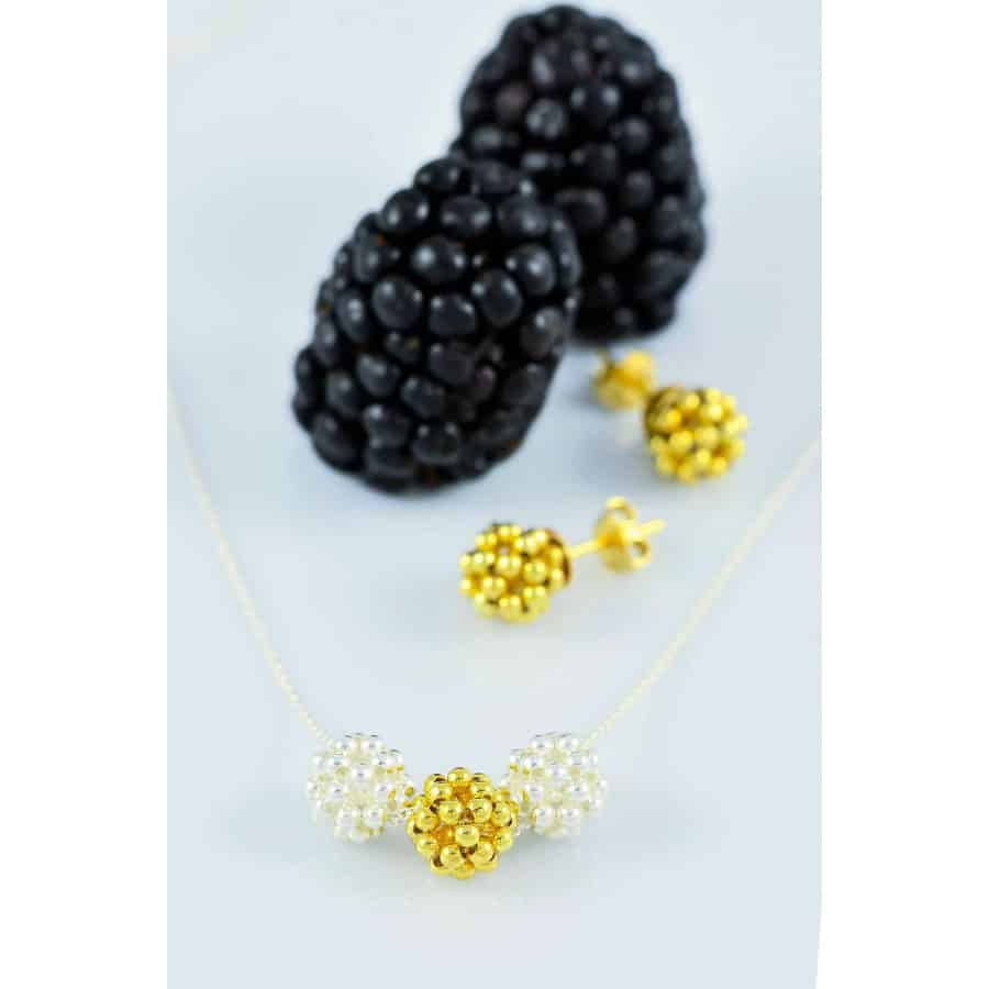 Náhrdelník Yellow Gold Mix Berries Minimal small