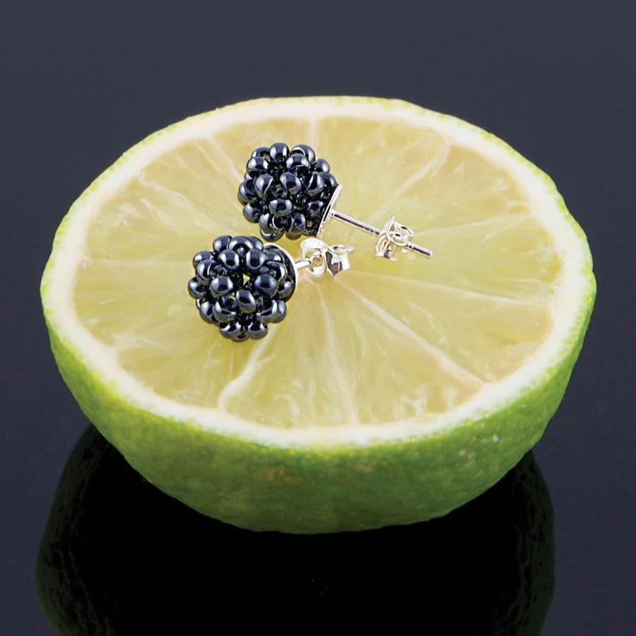 Náušnice Blackberries Minimal small