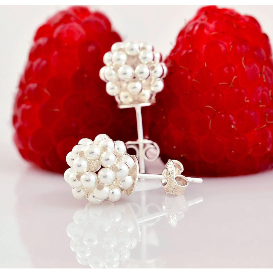 Náušnice Silver Berries Minimal big