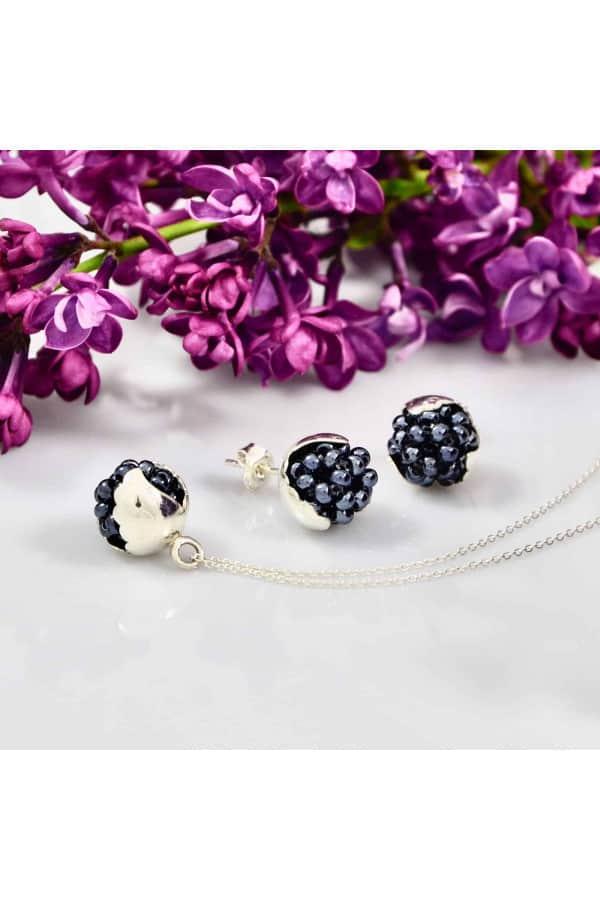 Set Silver Leaf Blackberries