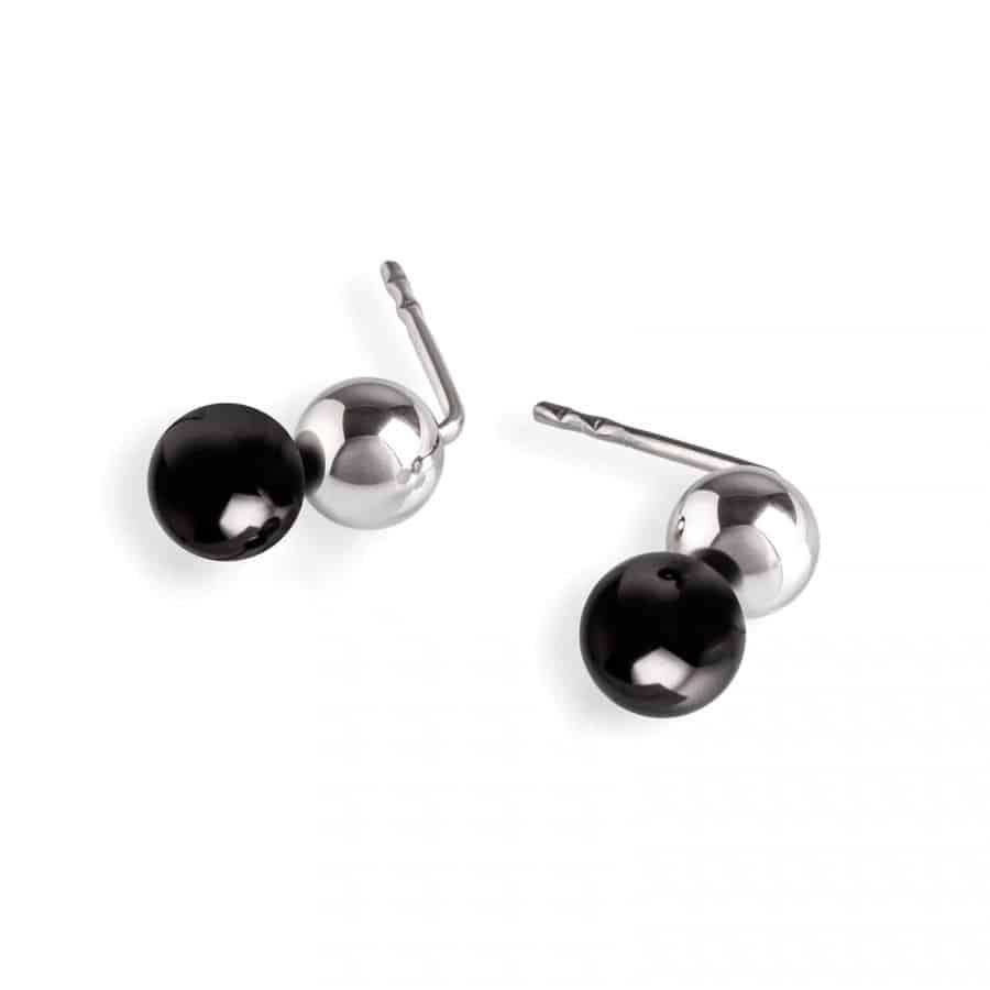 earring 092 černý zirkon