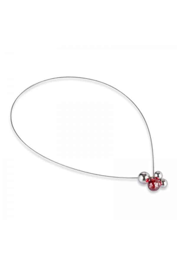 necklace 064 červený zirkon / kolekce red-esign