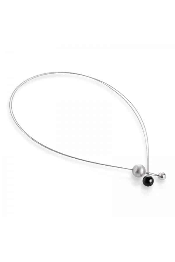 necklace 070 černý zirkon