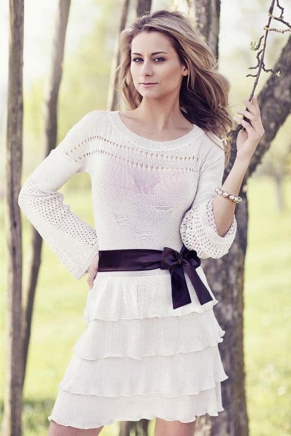 Letní pletené šaty