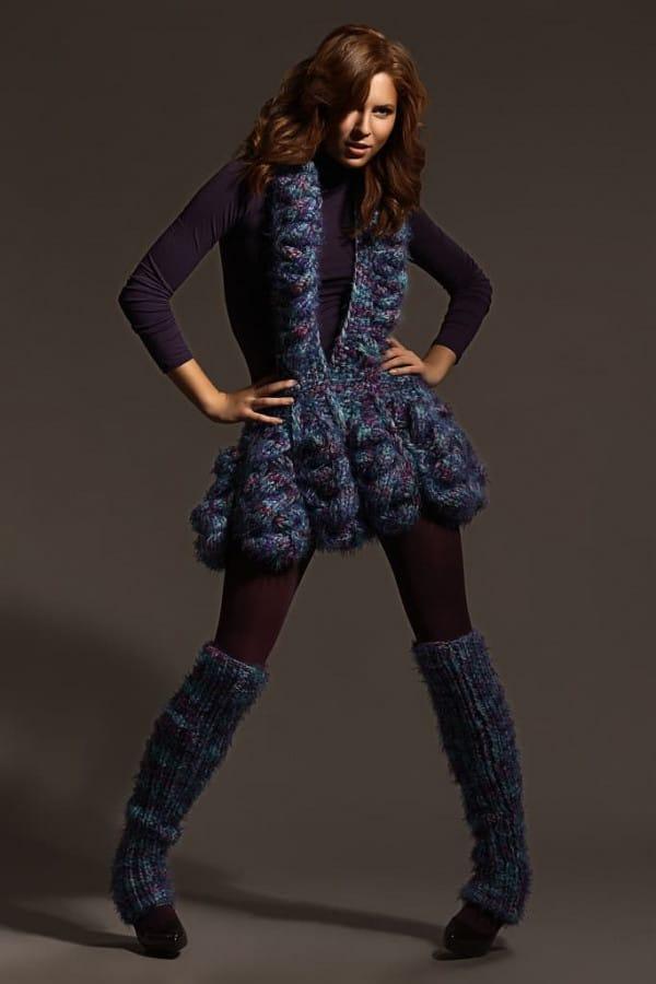 Ručně pletená extravagantní sukně