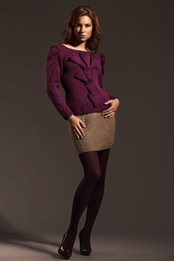 Ručně pletená sukně
