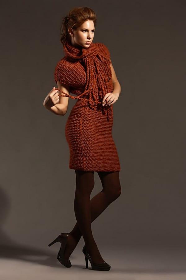 Ručně pletené šaty