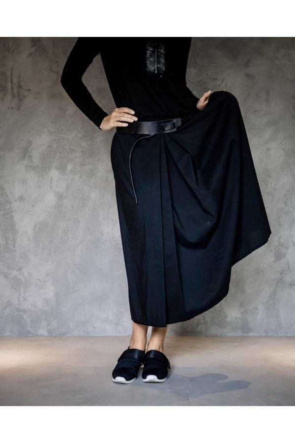 Černá maxi sukně