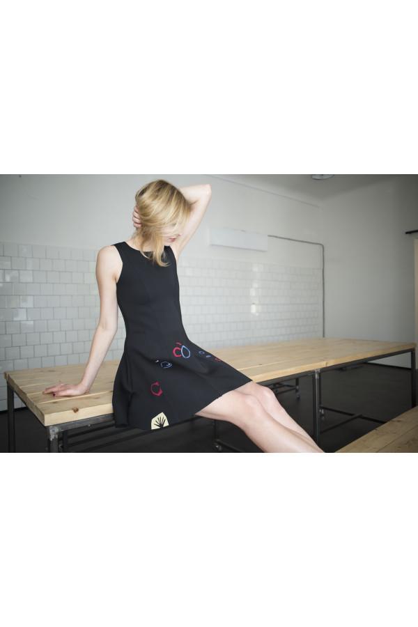 S A L E Neopren small black dress