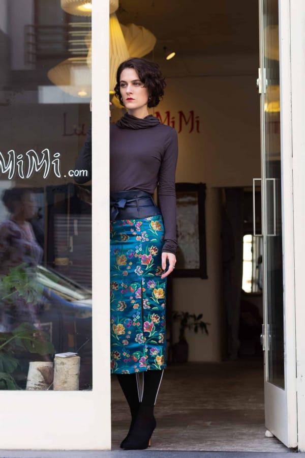 Brokátová sukně