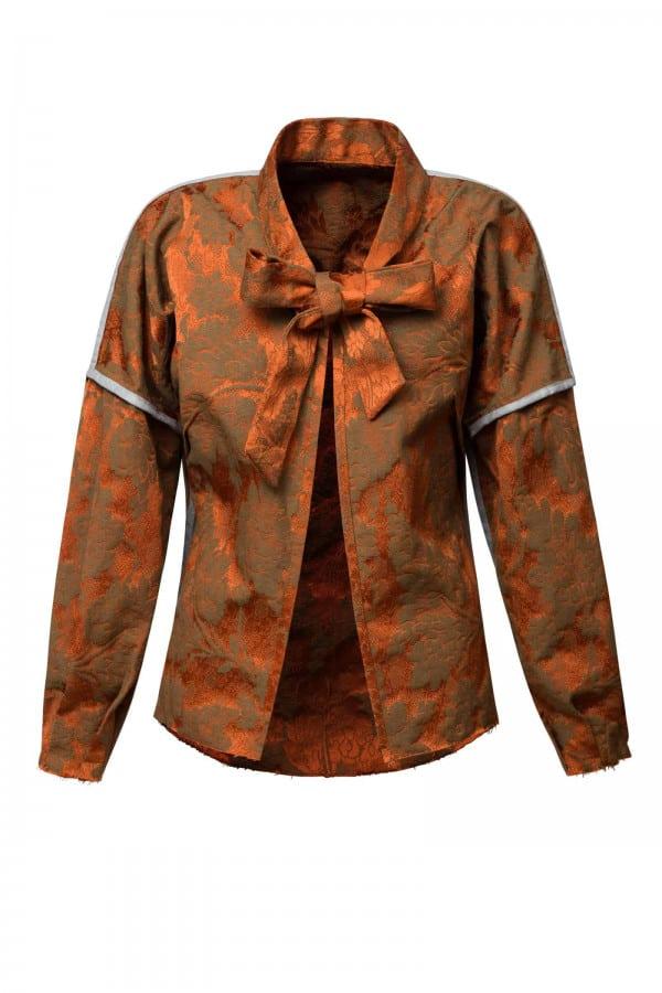 Brokátový oboustranný kabátek
