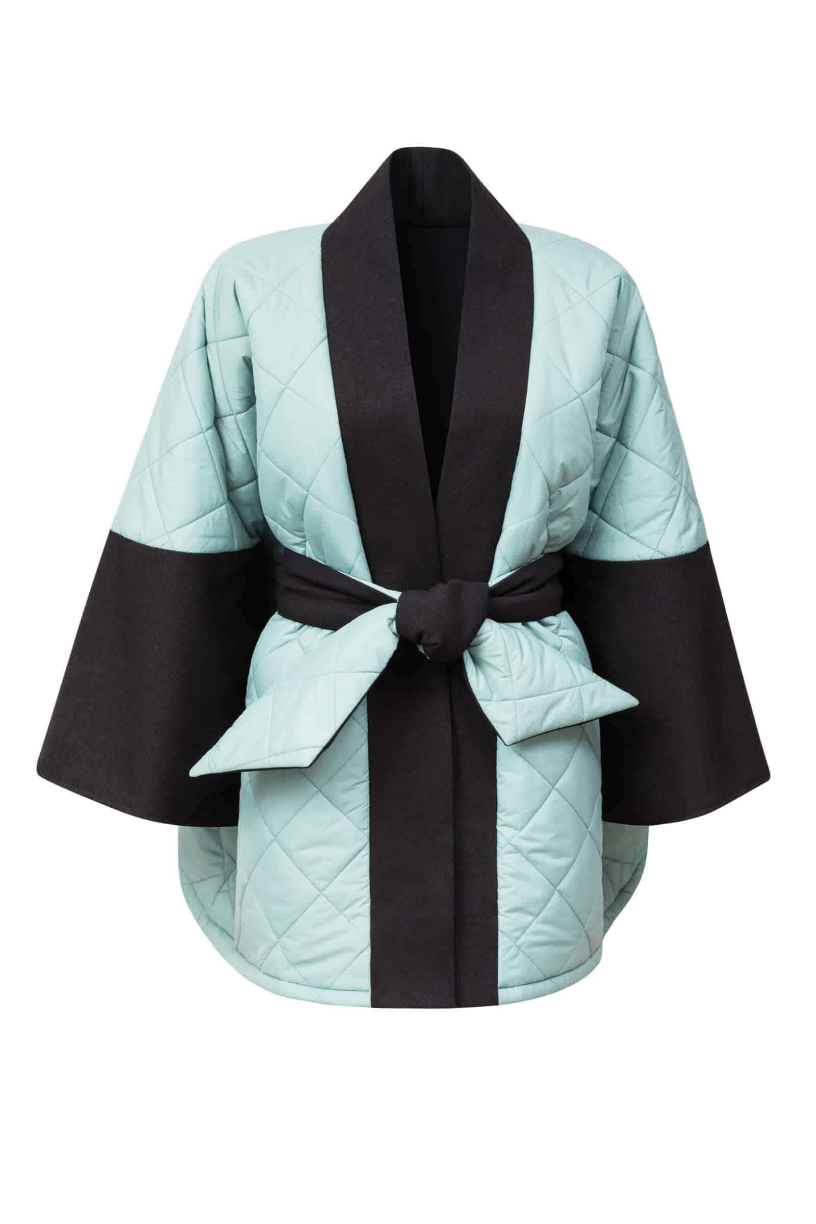 Oboustranné péřové kimono