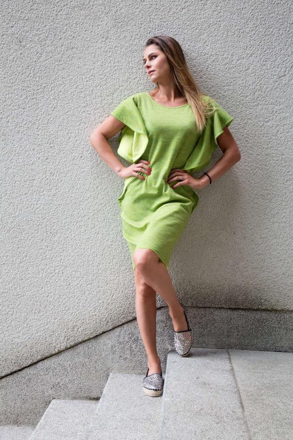 Šaty Butterfly zelené
