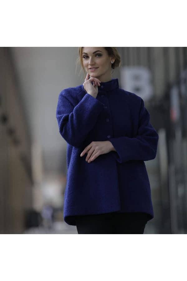 modrý kabátek