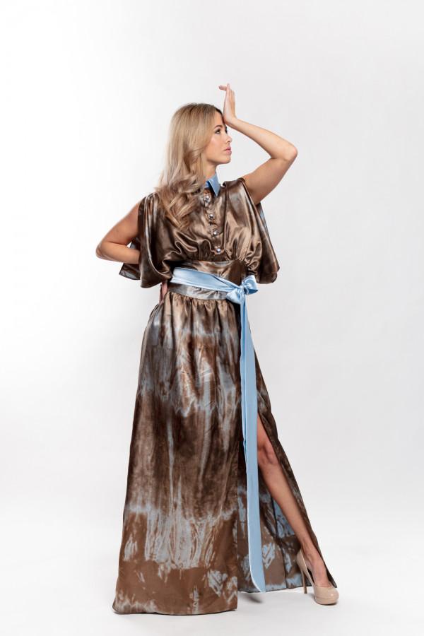 společenské šaty batika