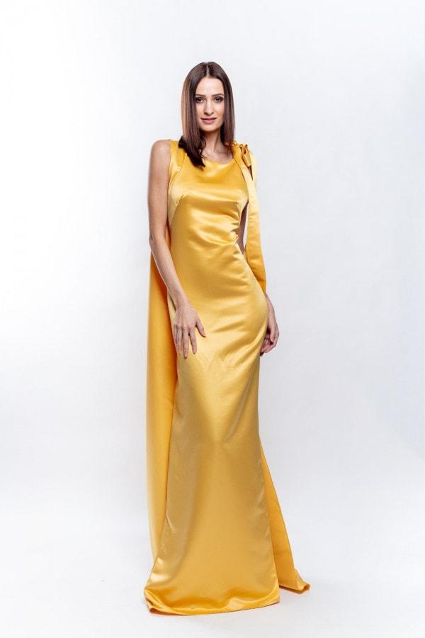 společenské šaty žluté
