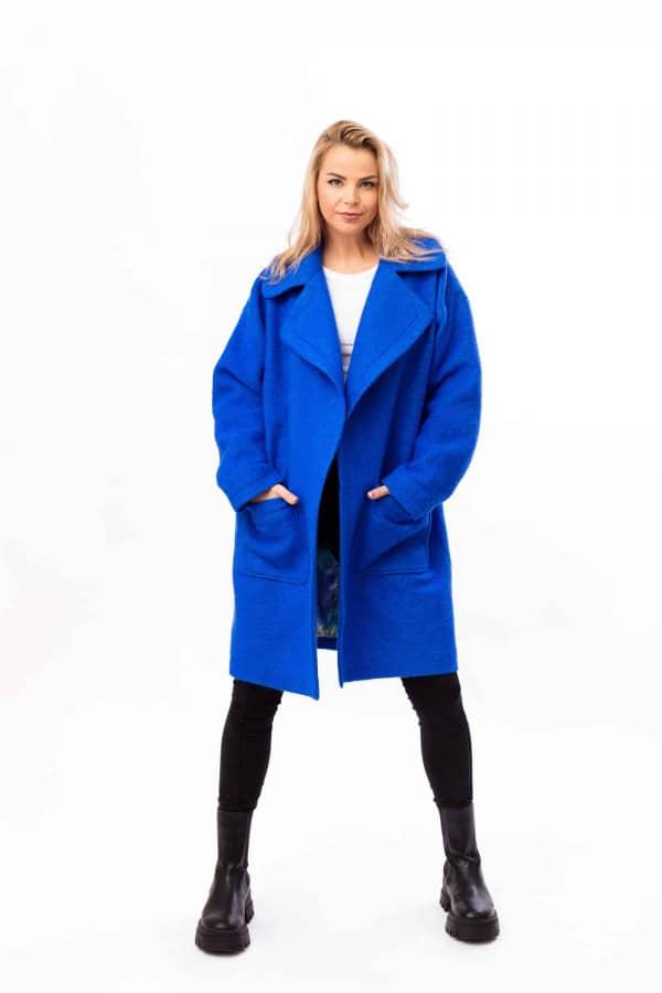 zimní kabát královská modrá