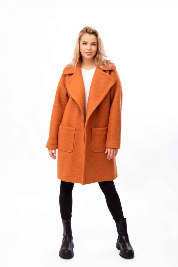 zimní kabát oranžový