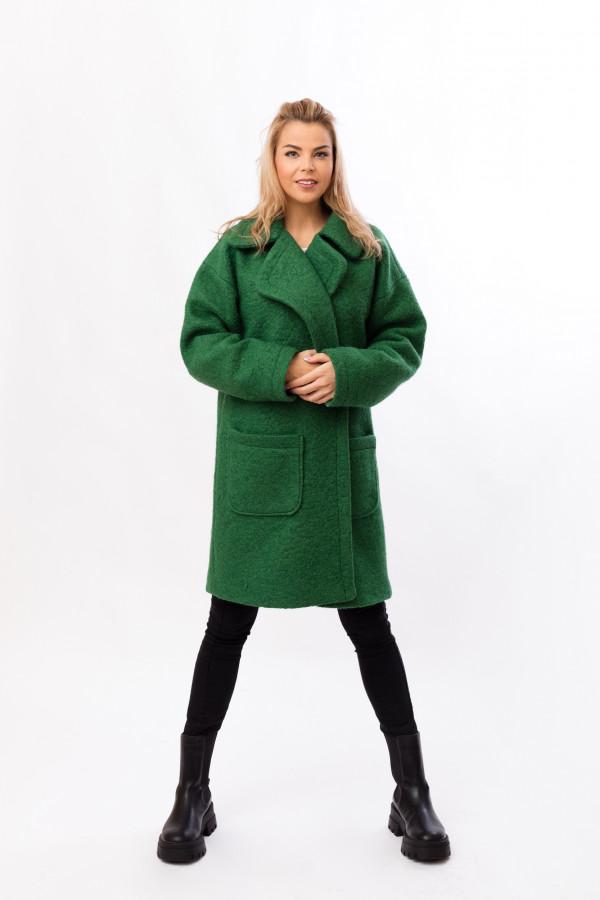 zimní kabát zelený