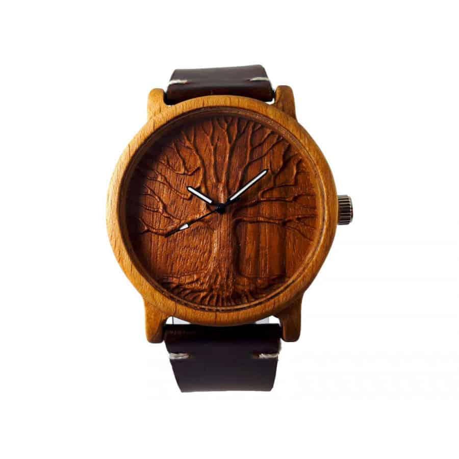 Dřevěné 3D hodinky - Strom života I