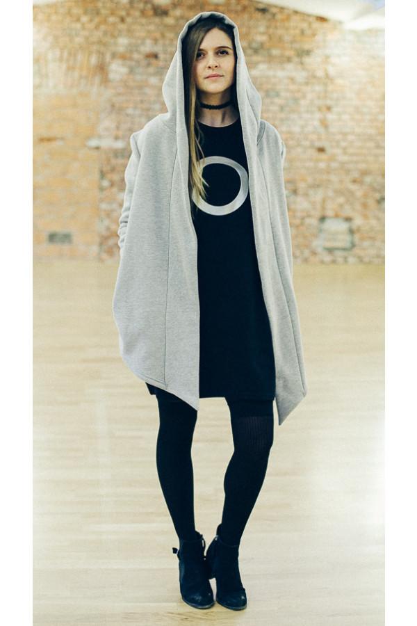 FNDLK Mikina s kapucí s lemem 073 Grey