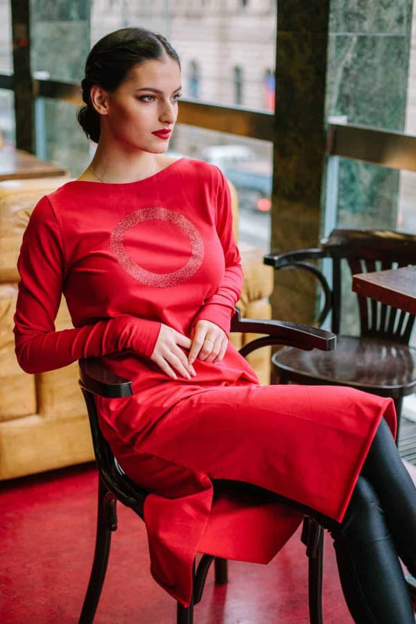 FNDLK úplet. šaty 450 RVL_glitter midi s rozparky