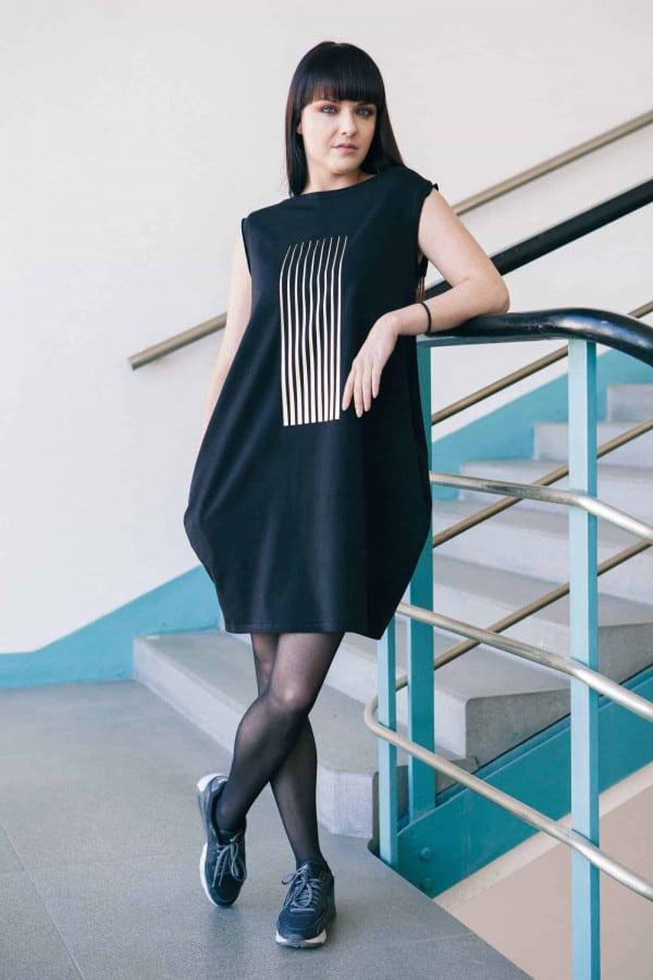 FNDLK úpletové šaty 170 BL