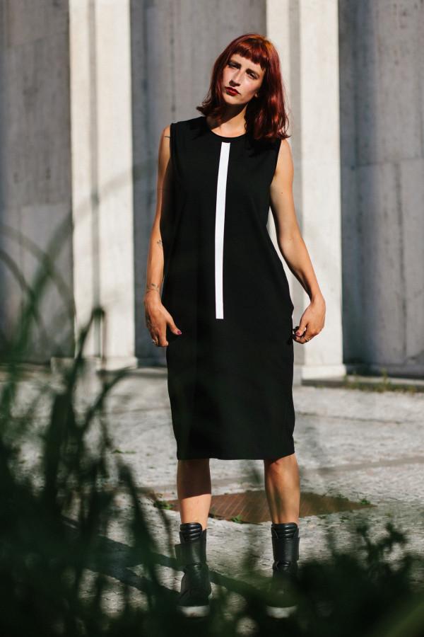 FNDLK úpletové šaty 309 RL midi