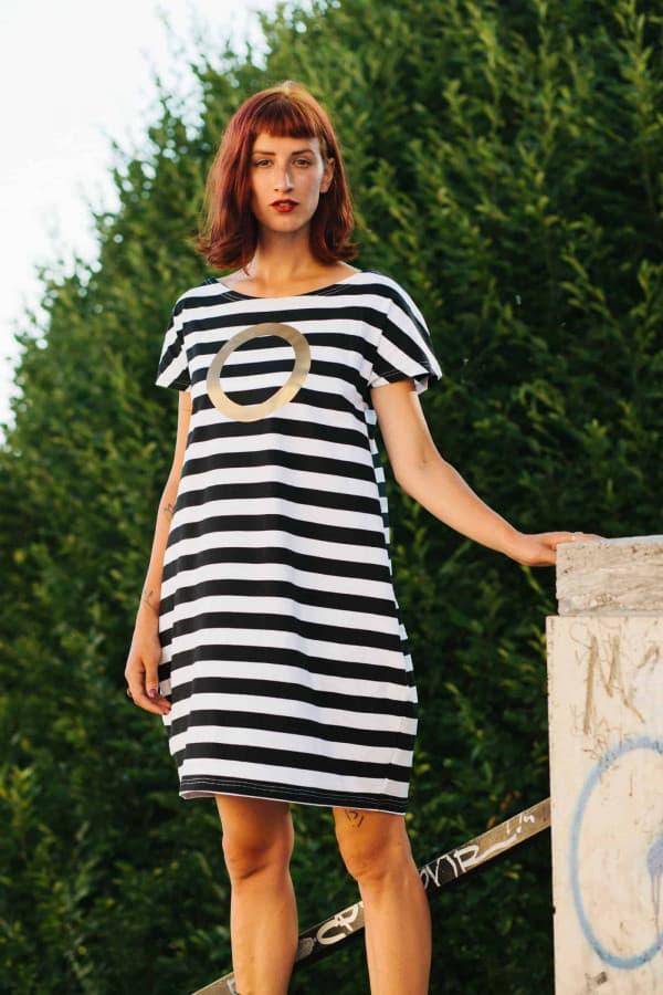 FNDLK úpletové šaty 310 BKkL