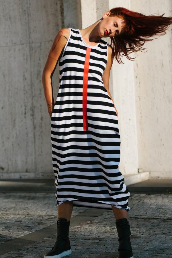 FNDLK úpletové šaty 312 BLo dlouhé